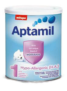 Aptamil  Хипоалергенно бебешко адаптирано мляко 1 /HA/ 400 гр.